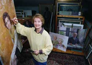 June at work in her studio